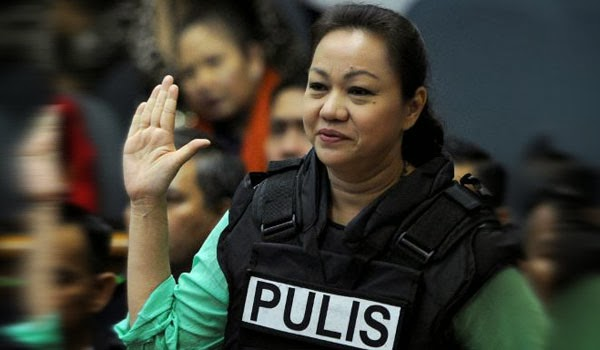 Janet Lim Napoles in the Senate hearing