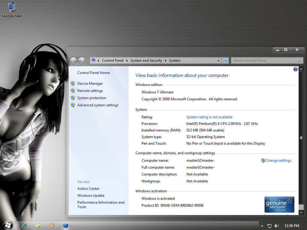 Праздники. Балкан-Экспресс. Windows 7 Ultimate Dark Netbook Edition is on