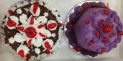 black forest and ube cake from chedz