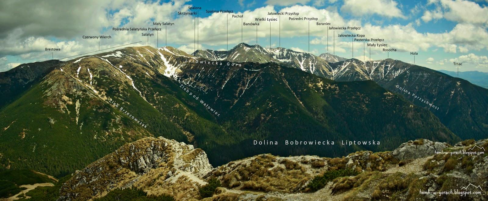 Panorama z Siwego Wierchu
