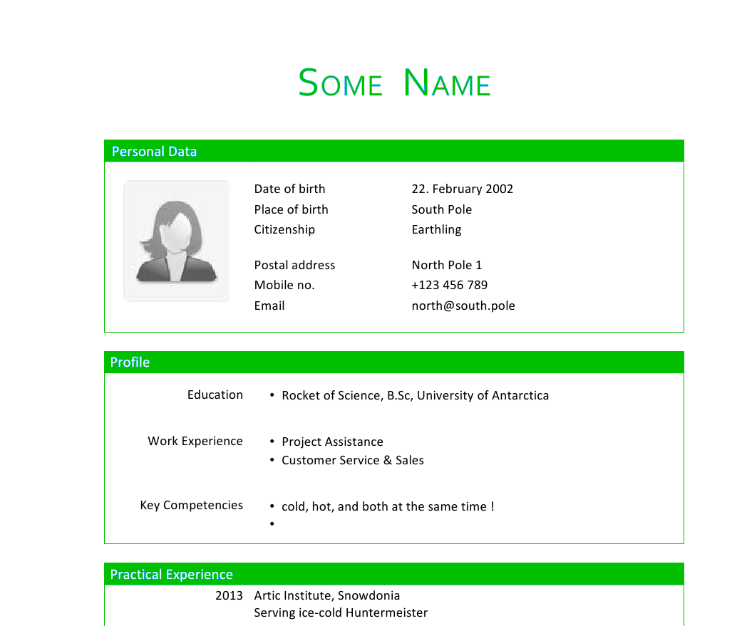 Resume Format Wikipedia technical resume formats