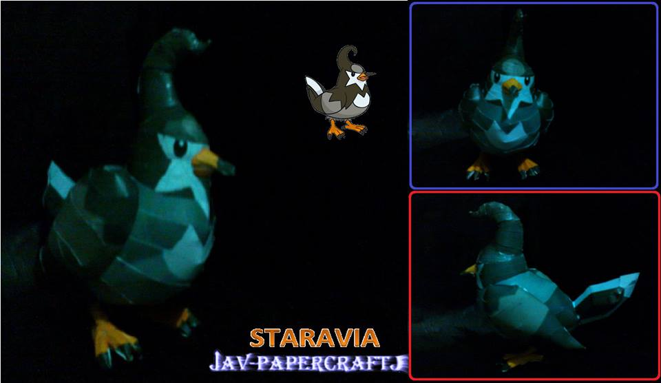 Pokemon Staravia Papercraft