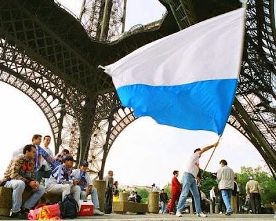 Torre Eiffel Real Zaragoza blanquiazul