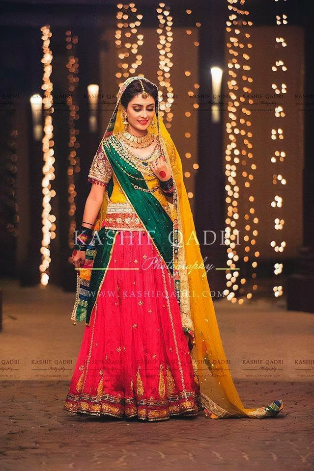 Mehndi Ceremony Attire : Ayeza khan in awesome mehndi dress the concepts of