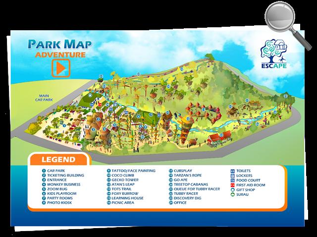 Escape Theme Park Map
