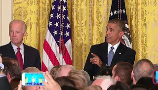 Obama reacted on the heckler's disrespectful attitude.