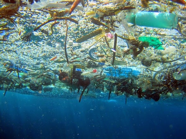 trash under the ocean