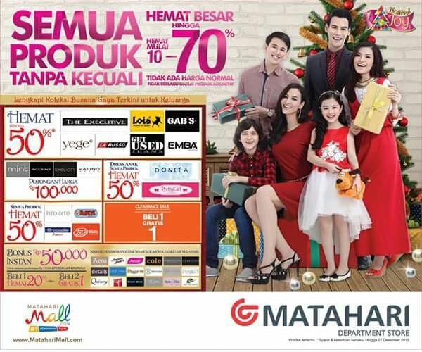 Promo Matahari Desember 2015