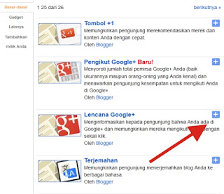 Tutorial Cara Pasang Widget Google+ Badge di Blogger