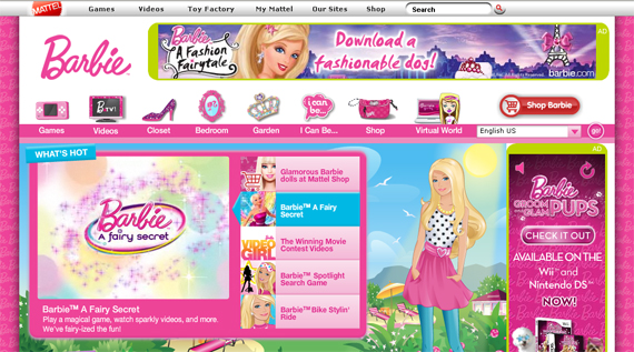 barbie doll official website