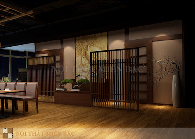Thiết kế nội thất nhà hàng Nhật Bản cao cấp, sang trọng6