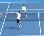Radek Stepanek throws Novak Djokovic a bum shot at Australian Open