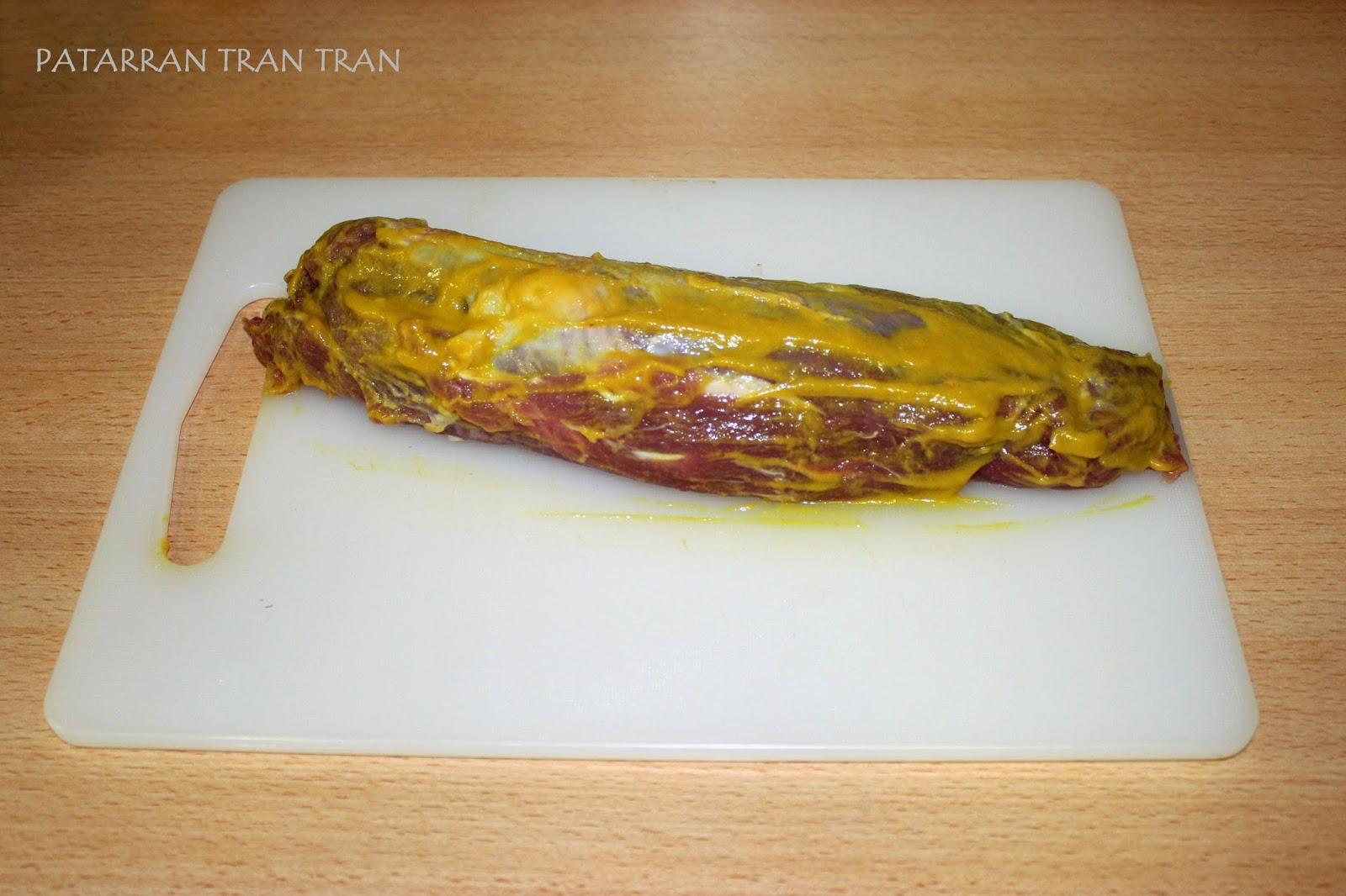 Lomo de cerdo con mostaza