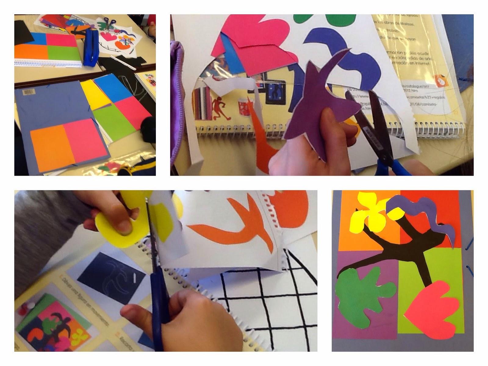 Blog de plástica : Trabajo final de Henri Matisse: dibujar con tijeras