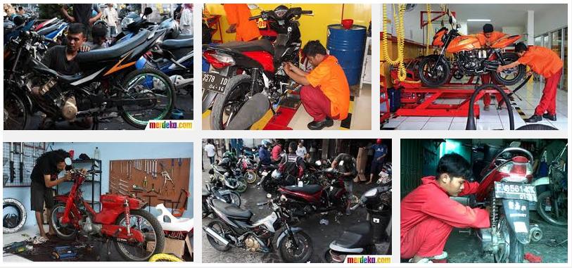 pekerjaan sepeda motor