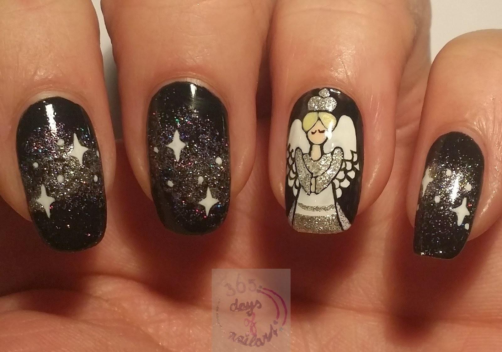 365 Days Of Nail Art Day 353 Nail Art Christmas Angel