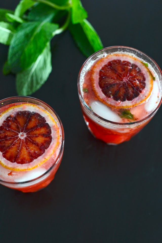 strawberry blood orange limeade