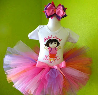 Dora the Explorer Birthday Tutu Outfit
