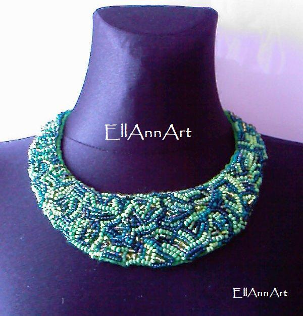 EllAnnArt - Jak zrobić naszyjnik z koralików i filcu / how to make a necklace with beads and felt