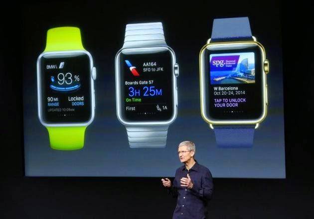 Το ρολόι της Apple αναμένεται να βγει την άνοιξη. Έχουμε δει φωτογραφίες, αλλά ακόμα δεν ξέρω πως θα μοιάζει σαν το χρησιμοποιήσουμε.