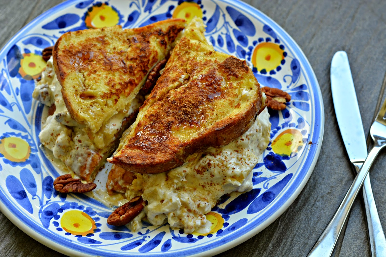 stuffed fig and pecan french toast