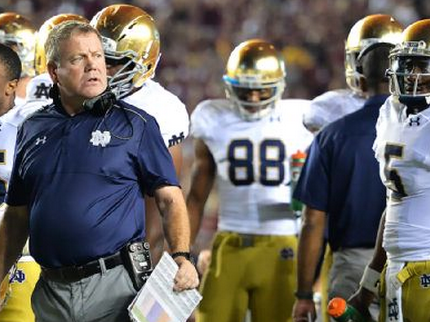 Notre Dame coach Brian Kelly at end of Floriday State game