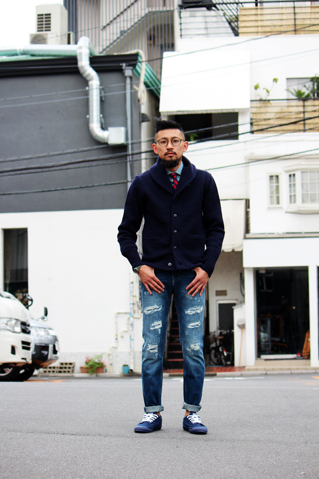 northseaclothing expedition cardigan navy 14fw naval sweater knit
