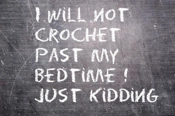 crochet blackboard pic