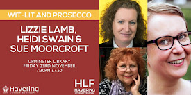Wit-Lit & Prosecco with me, Sue Moorcroft and Lizzie Lamb