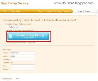 Twitter Feed - Atualizações do Feed de seu Blog automaticamente em seu Twitter e em sua página do Facebook