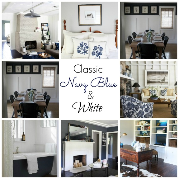 Real inspired decorating with navy blue for Navy dining room ideas