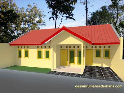 desain rumah kpr btn type 21 60