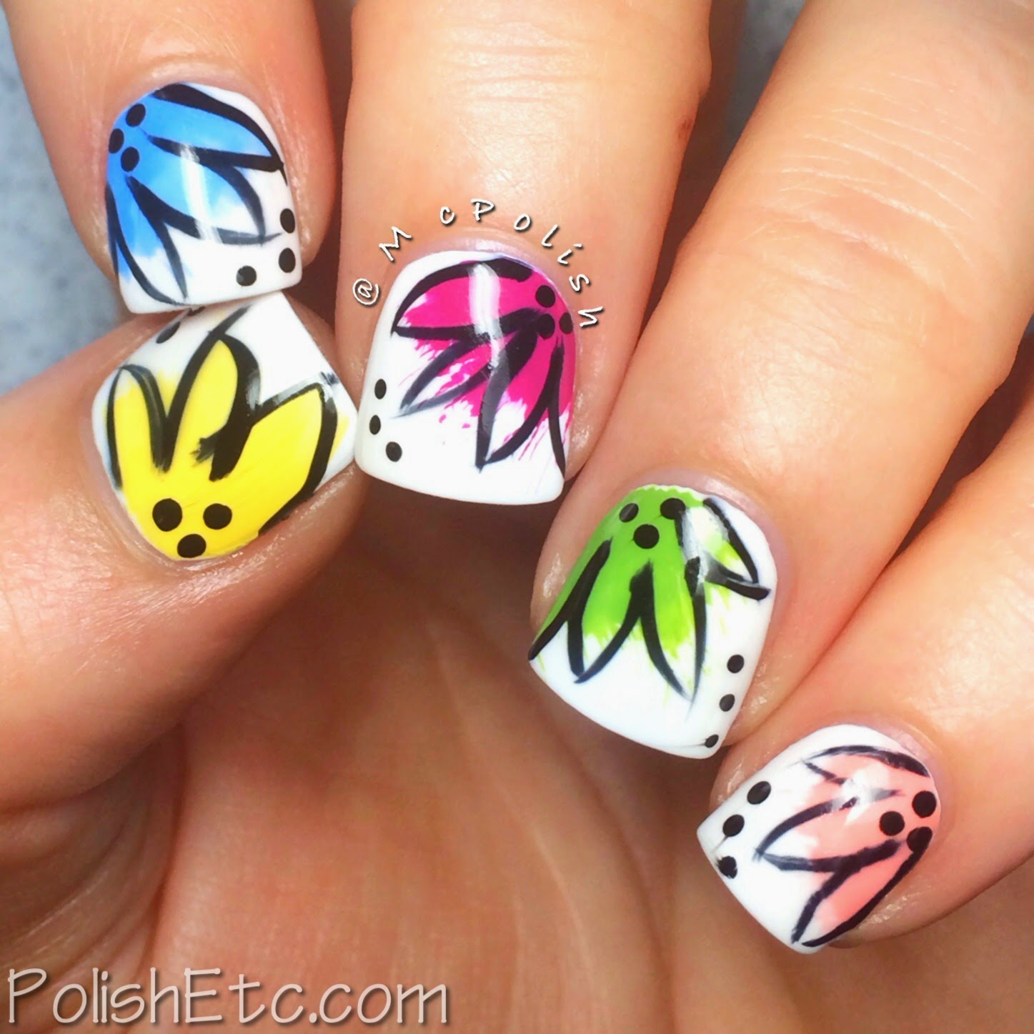 Tillie Pollish - Sweet Treats - Splash Flower mani