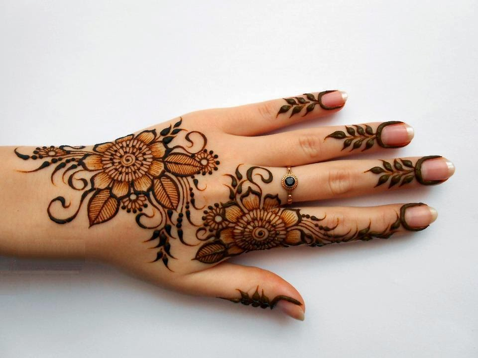 Latest Mehndi Hands : Bridal mehndi designs latest fancy hand design wallpapers