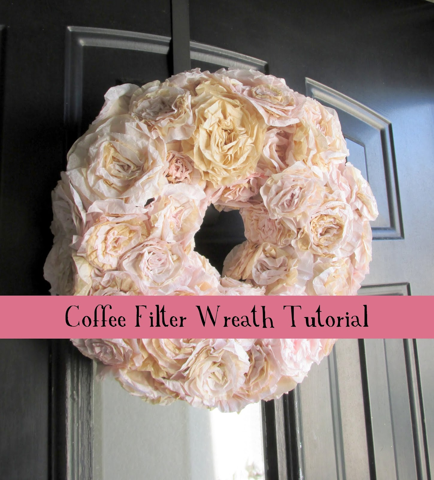 Haleighanna\'s Hands: Haleighanna\'s Hands: DIY Coffee Filter Wreath ...