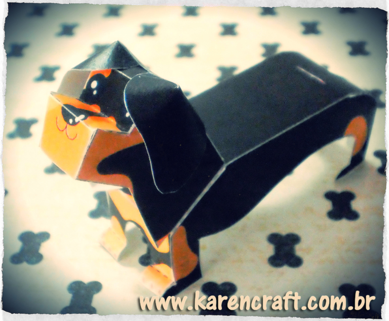 Dachshund Paper Model