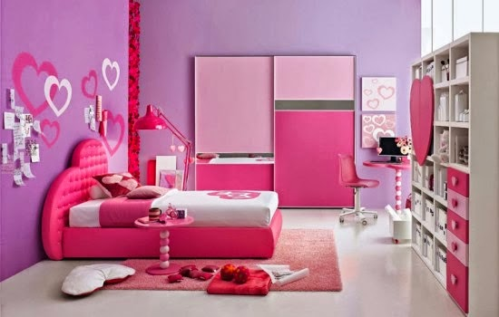 Kamar tidur anak remaja perempuan