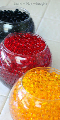 How to add color and scent to water beads for seasonal and themed sensory play