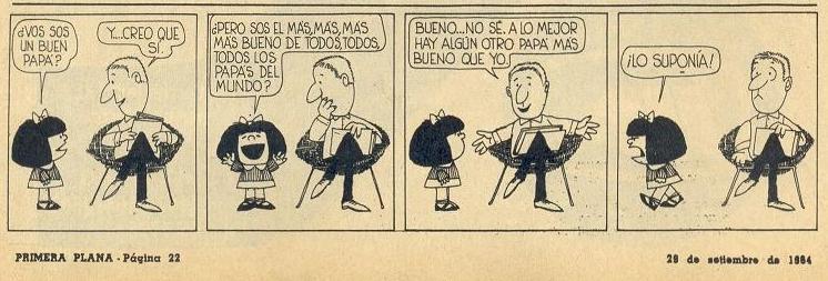 estréia de Mafalda, de Quino, em 29/09/1964, na revista Primera Plana