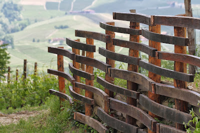Fence Made of Barrel Slats