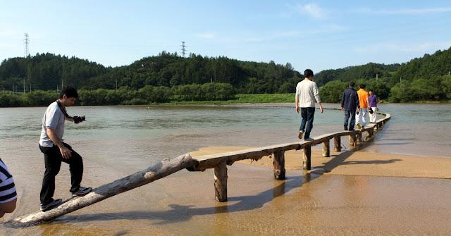 El puente más rústico de Corea