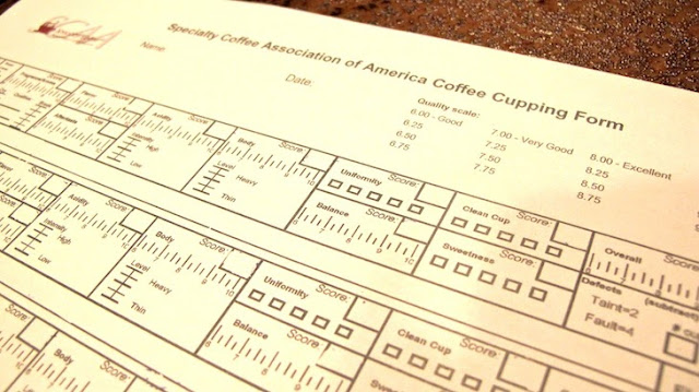 Airship coffee cupping Q-grader form (c)nwafoodie
