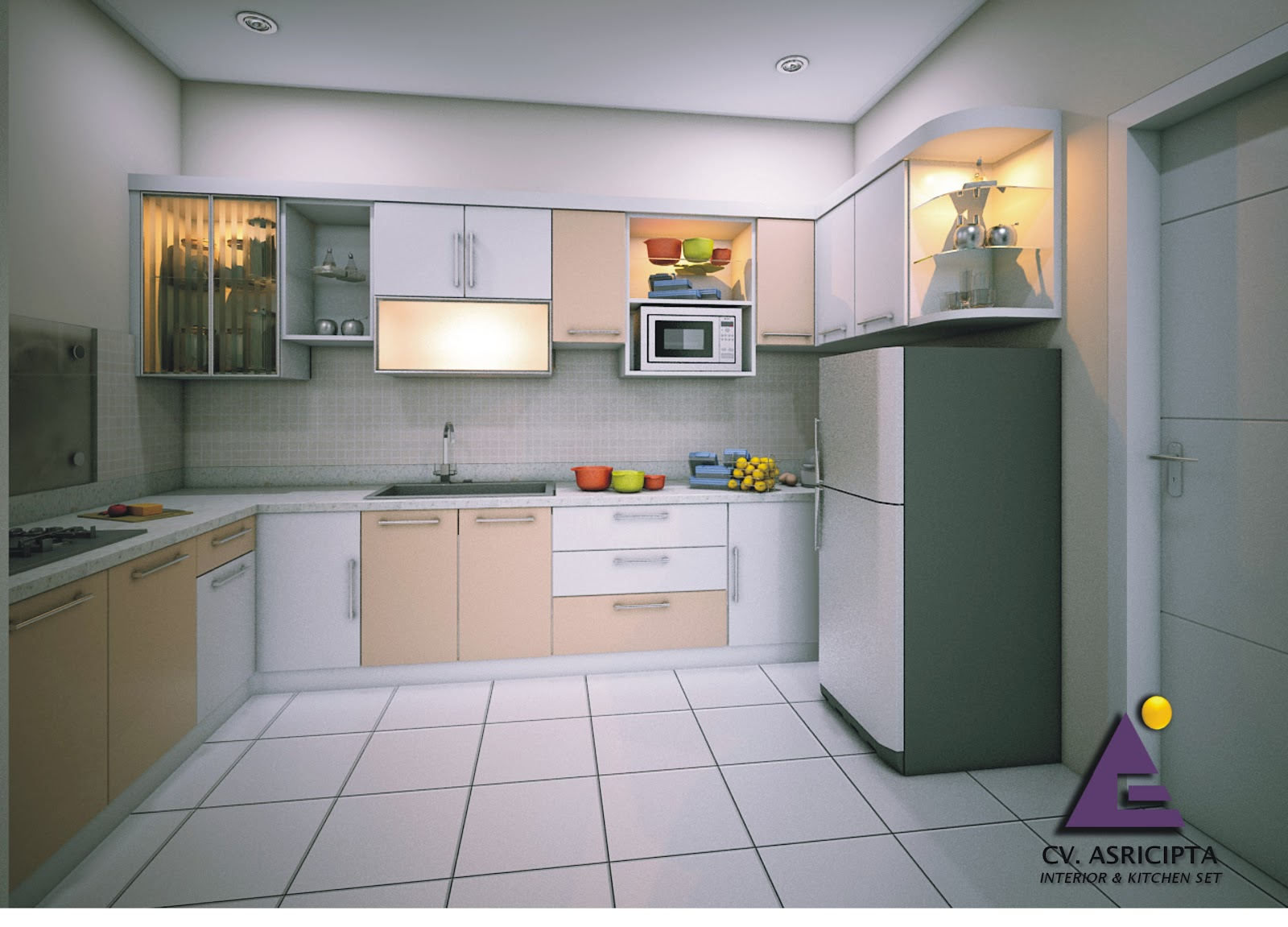 Kitchen set bu silvi green tamansari e3