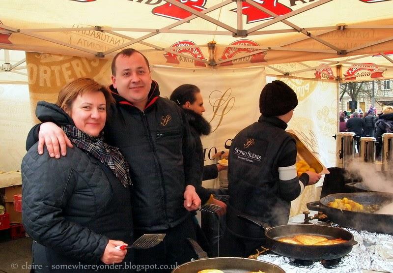 Pancake food stall - Užgavénés - Vilnius, Lithuania