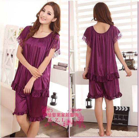 Baju Tidur Setelan SL1121 Dark Purple