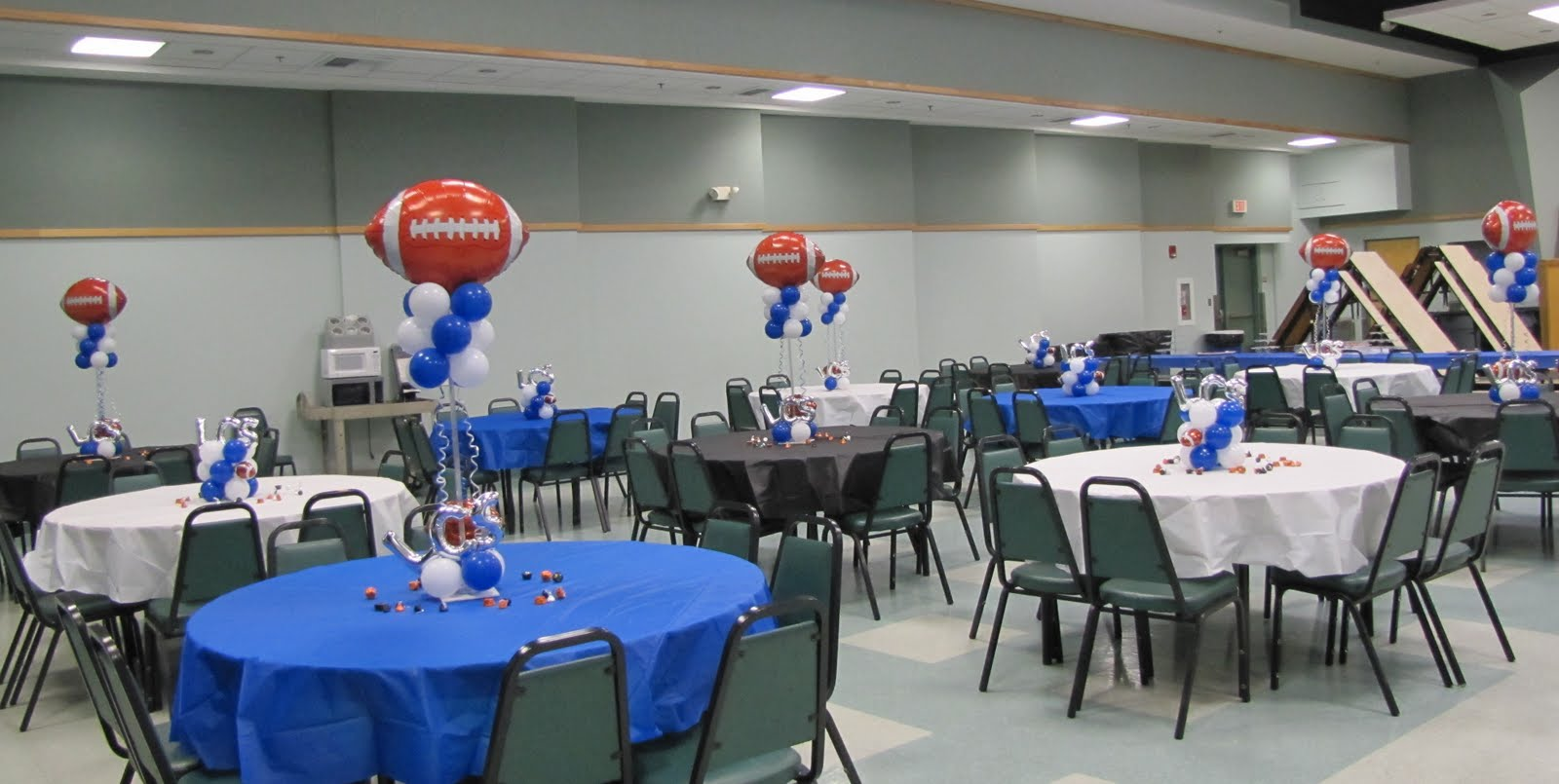 Party people event decorating company football banquet
