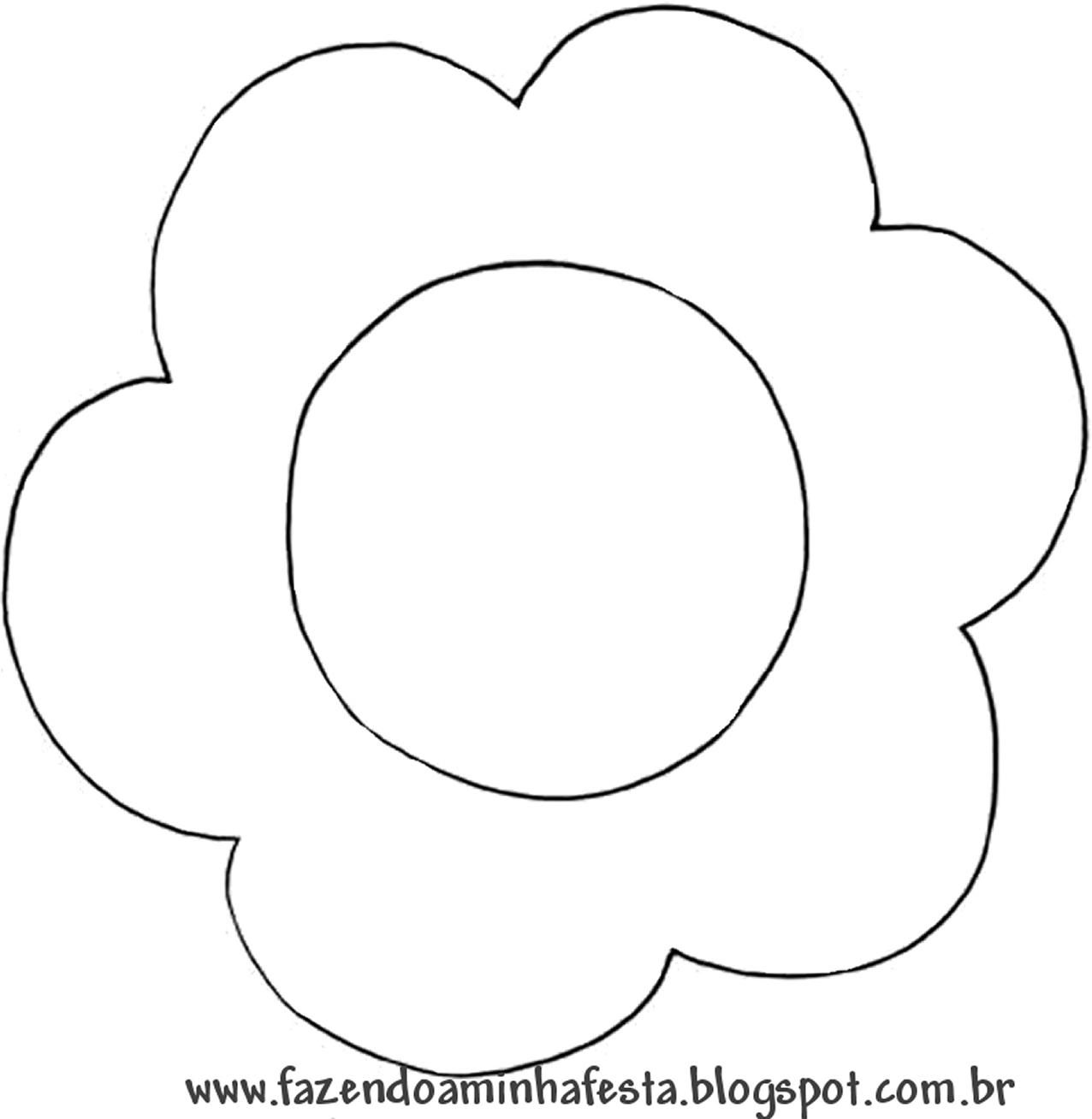 Moldes Decorados de Topper para Cupcakes em formato de flor: