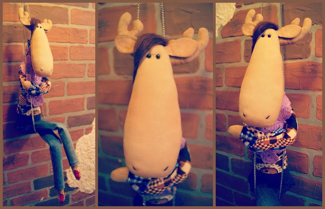 tilda moose hand made toy