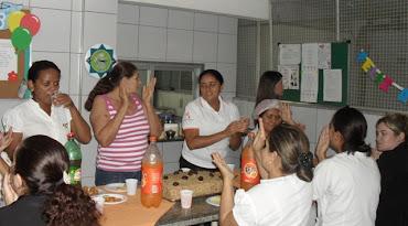 Fotos da comemoração dos aniversariantes de fevereiro 2012 colaboradores.