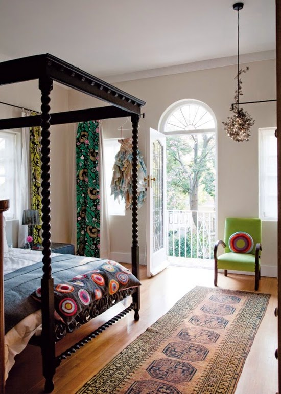 Safari Fusion blog | Four-poster beds | Revived 1920s interiors of a Saxonworld (Johannesburg) home, South Africa